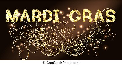 Mardi Gras golden background
