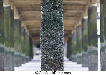Detail of pier in Zeebrugge, Belgium. - Detail of the pier...