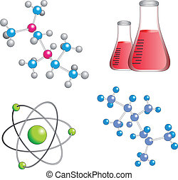 Science vector - Vector illustration of chemical topics on...