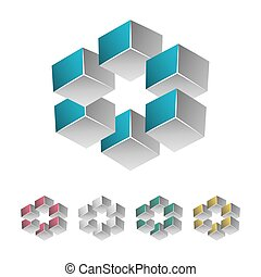 Impossible Shape. White Background. Colorful Trendy Creative...