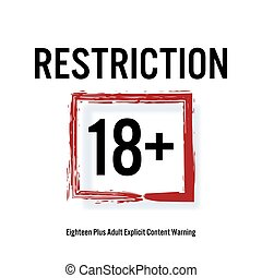 Restriction 18 . Red Rectangle. Eighteen Stop Sign. Content...