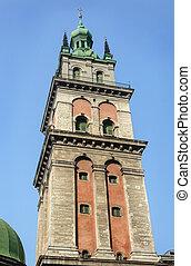 Assumption Church in Lviv - Bell tower of ancient Assumption...
