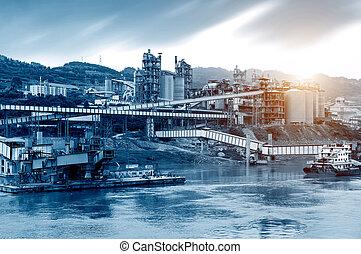 Cement plant on the Yangtze River