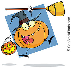 Cartoon Character Halloween Pumkin - Cartoon Character...