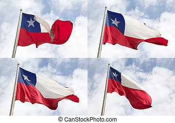 Flag of Chile - Flags of Chile in Santiago, Chile