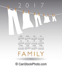 2017 calendar with a family concept