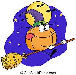 Cartoon character pumkin