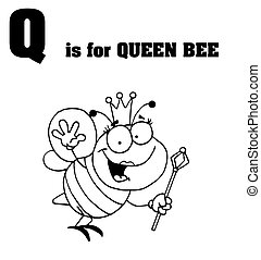 Q Is For Queen Bee Text