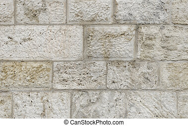 Wall made of stone blocks. Background for your text...