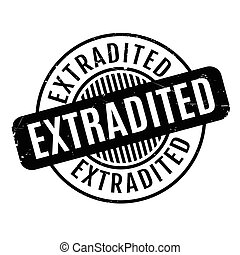 Extradited rubber stamp. Grunge design with dust scratches....