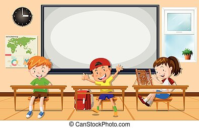 Kids learning in the classroom