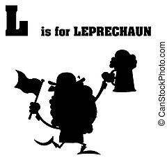 Silhouetted Leprechaun With L Is For Leprechaun Text