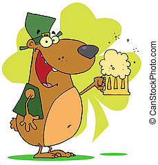 Happy St Patricks Day Bear - Happy And Intoxicated Bear In...
