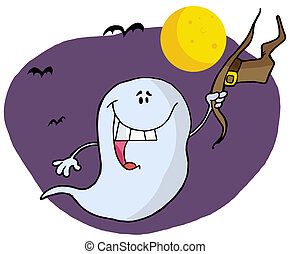 Character happy ghost