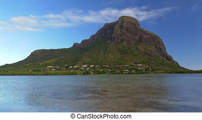 Waterside view of Le Morne Brabant, Mauritius - Scene of Le...