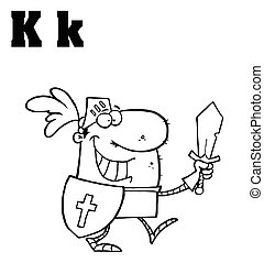 Knight With Letters K