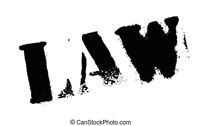 Law rubber stamp. Grunge design with dust scratches. Effects...