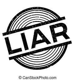 Liar rubber stamp. Grunge design with dust scratches....