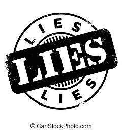 Lies rubber stamp. Grunge design with dust scratches....