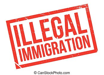 Illegal Immigration rubber stamp