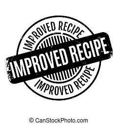 Improved Recipe rubber stamp. Grunge design with dust...