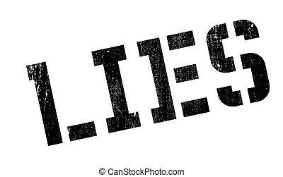 Lies rubber stamp. Grunge design with dust scratches....