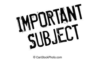 Important Subject rubber stamp