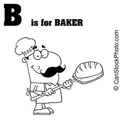 Outlined Male Baker