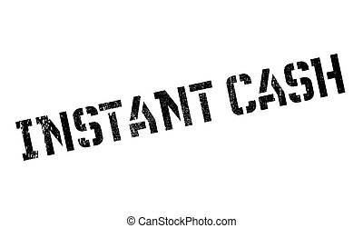 Instant Cash rubber stamp. Grunge design with dust...