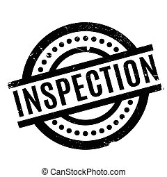 Inspection rubber stamp. Grunge design with dust scratches....
