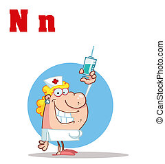 Nurse With Letters N