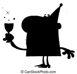 Solid Black Man - Solid Black Silhouette Of A Drunk Party...