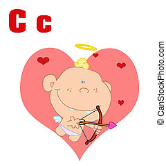 Cupid With Letters C