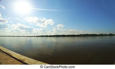 A time lapse of the Astrakhan skyline from across the river...