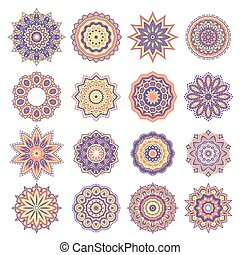 Set of Oriental Abstract Elements