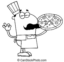 Outlined Pizza Cook