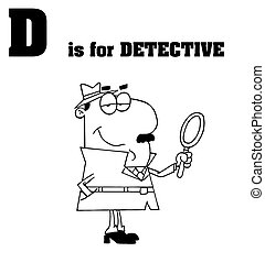 Outlined Detective