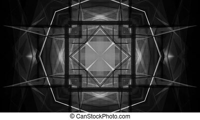 Black and white VJ abstract non looping New - Animated black...