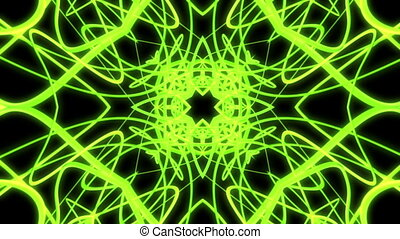 Green abstract VJ loop strobe light rays - Animated green...