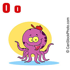 Octopus With Letters O
