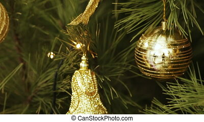 Decoration Christmas tree - Christmas decorations and tinsel...