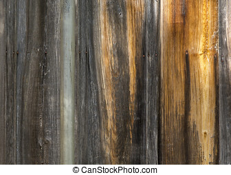 Worn Wood Siding - This colorful wood siding of a worn and...