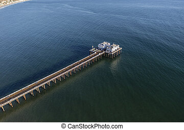 Malibu Pier and Santa Monica Bay Aerial