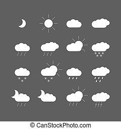 weather icons - set with weather icons
