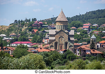 Ancient orthodox church, Svetitskhoveli. Mtskheta Georgia.