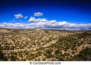 View of the Santa Fe National Forest in New Mexico - View of...