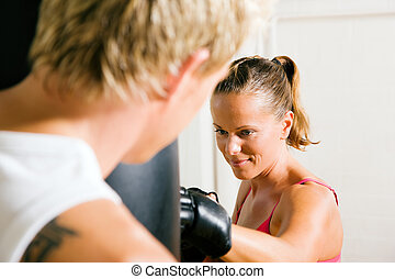 Martial Arts Couple - Boxing couple (male / female), trainer...