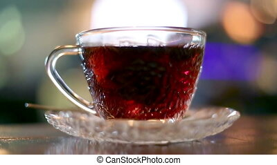 Black tea brewed with hot water