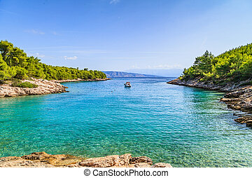Beautiful adriatic rocky coastline - Landscape photo of...