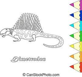 dino - kids coloring, dinosaur. eps10
